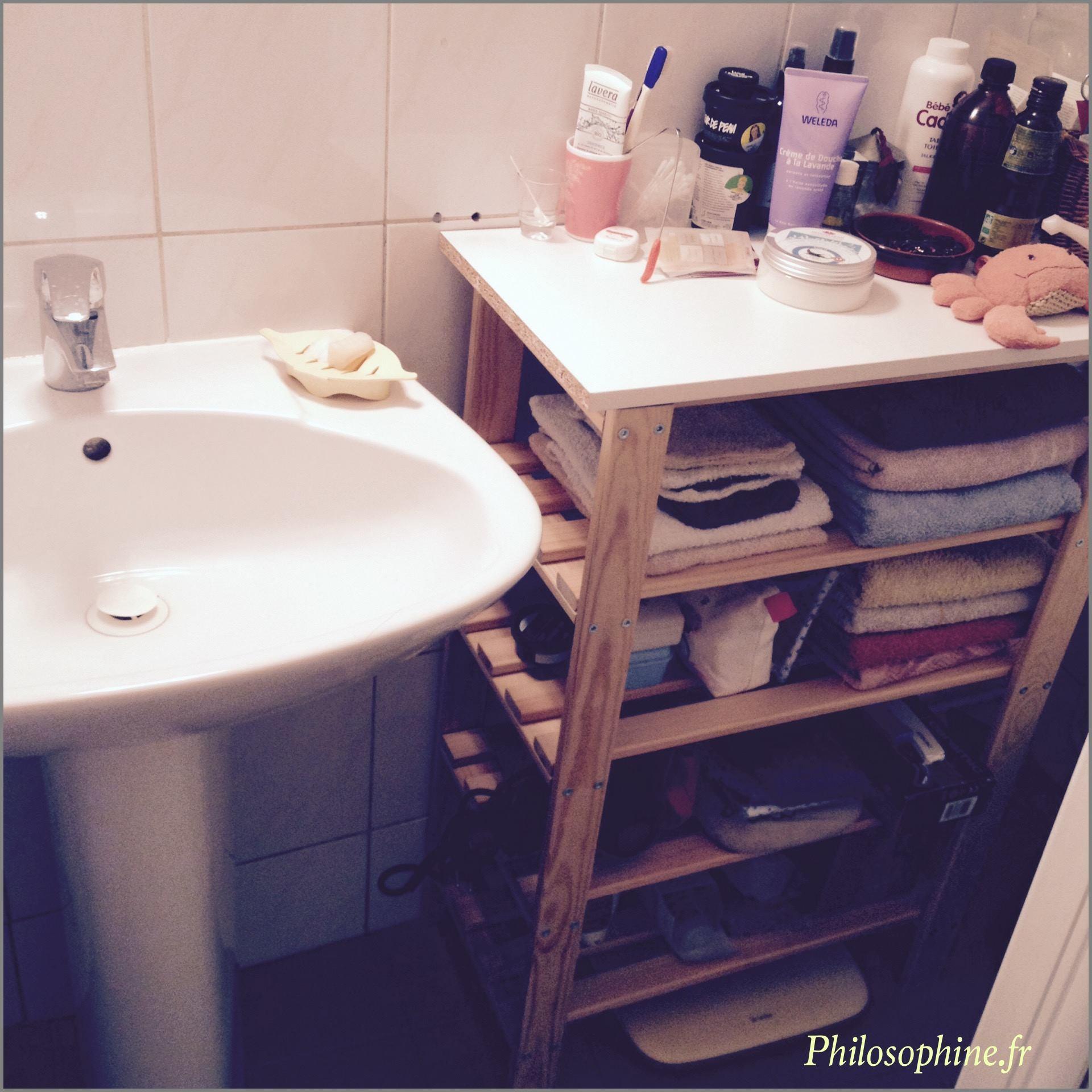 D fi minimalisme la salle de bain philosophine for Minimalisme rangement